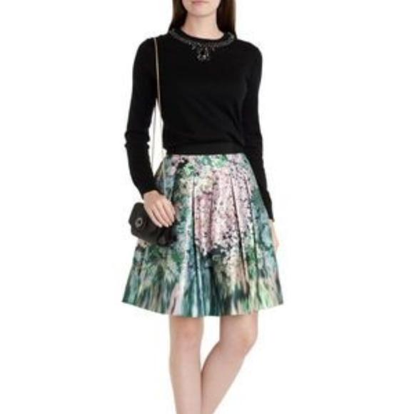 Ted Baker Dresses & Skirts - Ted Baker Green Skirt - Ovald Glitch Floral 0